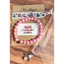 Ajándék szett- óvónéninek vagy dadusnak- rózsaszín