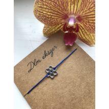 Virág cérnakarkötő- kék
