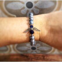 Angyakla charm karkötő- kék