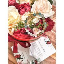 Legjobb anya virágbox- piros- nagy