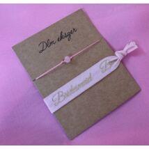 Bridesmaid karkötő szett- rózsaszín
