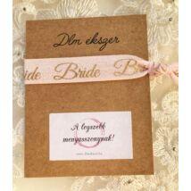 Rózsaszín Bride karkötő -lánybúcsúra a menyasszonynak