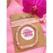 Extra Rózsaszín kristály szett- koszorúslányodnak