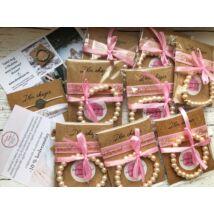Koszorúslány felkérő csomag- rózsaszín- 8db