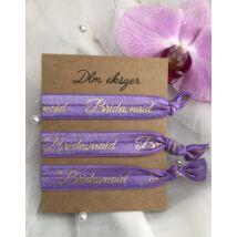 Bridesmaid karkötők- lila- koszorúslányoknak- 3db