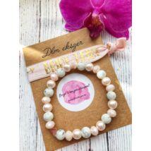 Bridesmaid karkötő szett- márvány- púder