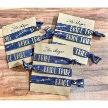 Kék Bride tribe karkötők- lánybúcsúra- 9db/ csomag