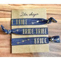 Kék Bride tribe karkötők- lánybúcsúra- 3db/ csomag