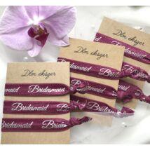 Bridesmaid karkötők- burgundi- koszorúslányoknak- 9db