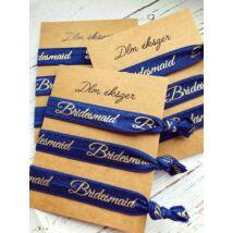 Kék Bridesmaid karkötők- koszorúslányoknak- 9db