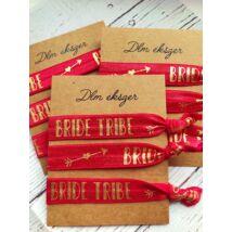 Bride tribe piros karkötők- lánybúcsúra- 9db/ csomag