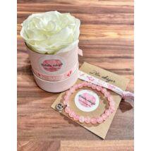 Babaváró virágbox- rózsaszín