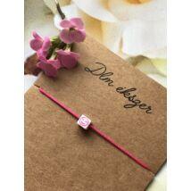 Mosolyogj- bohém karkötő- pink