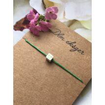 Mosolyogj- bohém karkötő- zöld