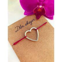 Love silver cérnakarkötő- bordó