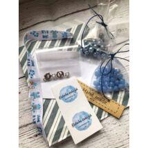Mini babaváró-box- kék