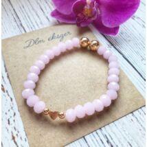 Doroty™ rózsaszín kristály karkötő