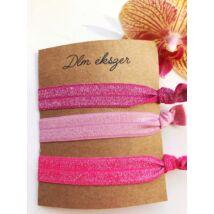 Pink szalag karkötő szett