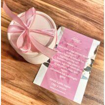 Tanú felkérő - dobozba rejtve- roppantott rózsaszín