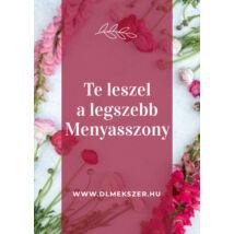 Menyasszonynak kártya-pink