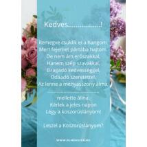 Koszorúslány felkérő kártya- türkiz