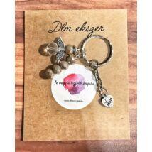 Angyalka kulcstartó- anyukádnak- bronz