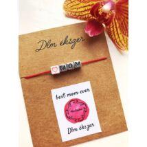 Love Mom cérnakarkötő- piros