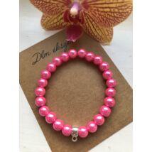 Pink charm karkötő