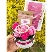 Koszorúslány felkérő virágbox