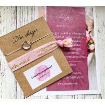 Gyöngyház szett- koszorúslányodnak- rózsaszín