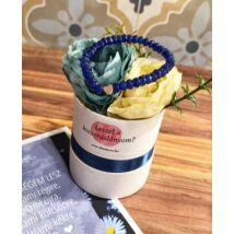 Koszorúslány felkérő virágbox- kék- kicsi
