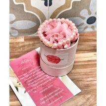 Koszorúslány felkérő virágbox- klasszikus rózsaszín