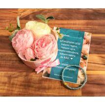 Koszorúslány felkérő virágbox- menta
