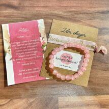 Roppantott rózsaszín Bridesmaid karkötő szett