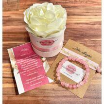 Koszorúslány felkérő virágbox- roppantott rózsaszín