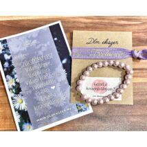 Klasszikus lila gyöngy szett- koszorúslányodnak