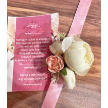 Virág csuklódísz- koszorúslány felkérővel- rózsaszín