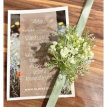 Virág csuklódísz- koszorúslány felkérővel-zöld