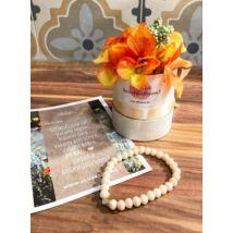 Koszorúslány felkérő virágbox- púder- kicsi