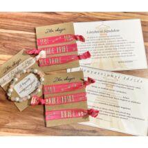 Extra lánybúcsús karötő szett + Ajándék- pink