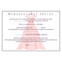Menyasszonyi idézés 1.- lánybúcsúra- A/5