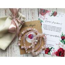 Rózsakvarc karkötő csomag anyukádnak