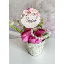 Anyának- ajándékcsomag- fehér-pink