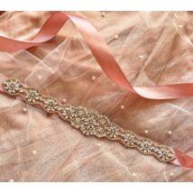Liz Menyasszonyi szatén öv- rózsaszín