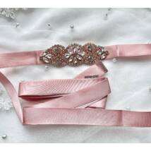 Juliette rozé menyasszonyi öv- mályva
