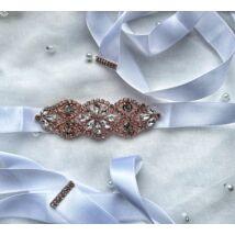 Juliette rozé menyasszonyi öv- fehér