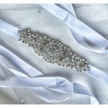Lora Menyasszonyi szatén öv- fehér