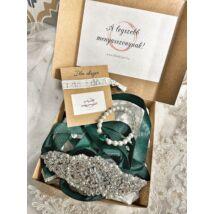 Menyasszonyi ajándékcsomag- zöld
