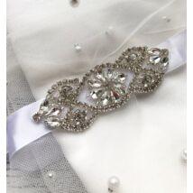 Juliette menyasszonyi öv- fehér