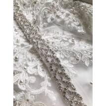 Alice Menyasszonyi szatén öv- fehér